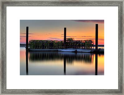 Cape Cod Sunset Pamet Harbor Framed Print by Bill Wakeley