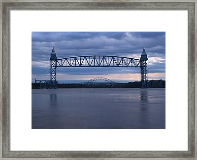Cape Cod Train Bridge Framed Print