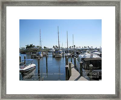Framed Print featuring the photograph Cape Coral Fl by Oksana Semenchenko