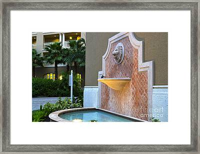 Cape Coral Florida Fountain Framed Print by Timothy Lowry