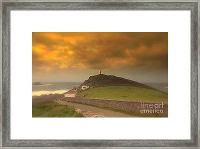 Cape Cornwall  England Framed Print