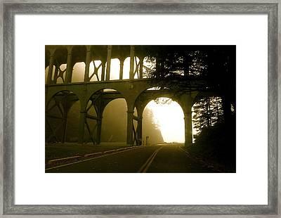 Cape Creek Bridge Framed Print