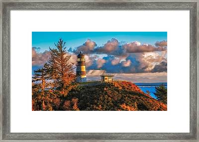 Cape Disappointment Light House Framed Print