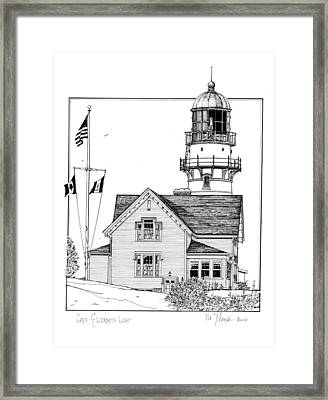 Cape Elizabeth Lighthouse Framed Print