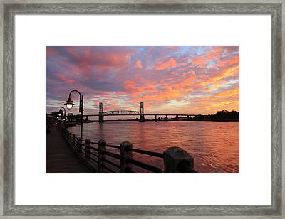 Framed Print featuring the photograph Cape Fear Bridge by Cynthia Guinn