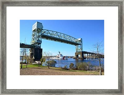 Cape Fear Draw Bridge  Framed Print