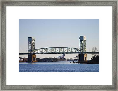 Cape Fear Memorial Bridge Framed Print
