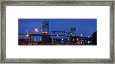 Cape Fear Memorial Bridge - Wilmington North Carolina Framed Print by Mike McGlothlen