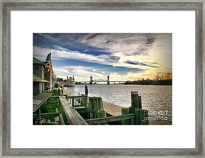 Framed Print featuring the photograph Cape Fear Riverwalk by Phil Mancuso