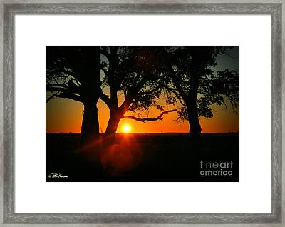 Cape Fear Sunset Framed Print