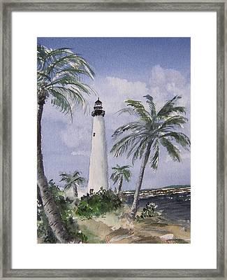 Cape Florida Light Framed Print by Stephanie Sodel