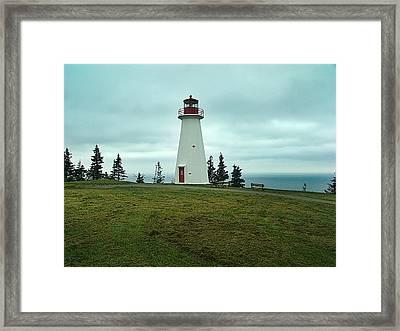 Cape George Lighthouse Framed Print by Janet Ashworth