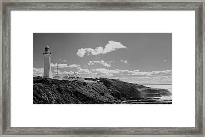 Cape Green Light Momochrome Framed Print by David Rich
