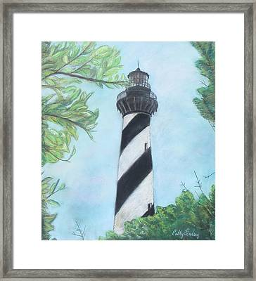 Cape Hatteras Light Framed Print by Cathy Lindsey