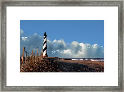 Cape Hatteras Lighthouse Nc Framed Print by Skip Willits