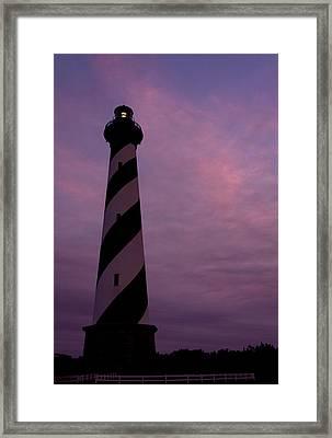 Cape Hatteras Lighthouse At Dusk Framed Print by Jim Baker