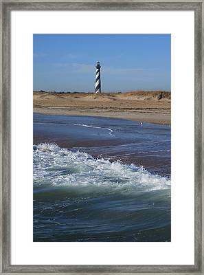 Framed Print featuring the photograph Cape Hatteras Lighthouse Nc by Mountains to the Sea Photo