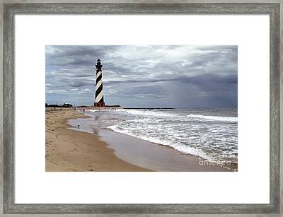 Framed Print featuring the photograph Cape Hatteras Lighthouse by Tom Brickhouse