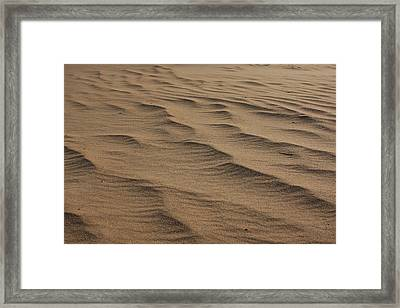 Framed Print featuring the photograph Cape Hatteras Ripples In The Sand-north Carolina by Mountains to the Sea Photo