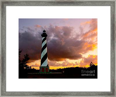 Cape Hatteras Sunset Framed Print by Nick Zelinsky