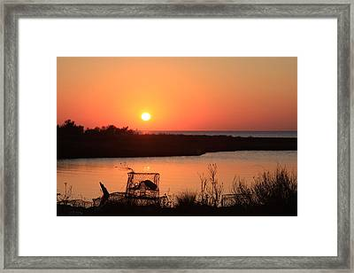 Framed Print featuring the photograph Cape Hatteras Sunset-north Carolina by Mountains to the Sea Photo