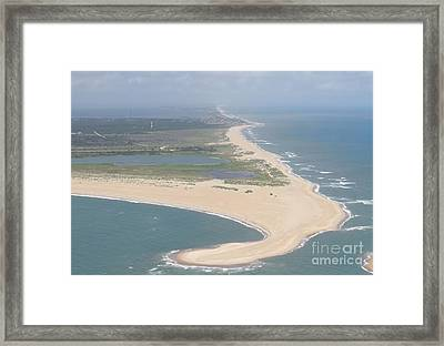 Cape Hatteras The Postcard Framed Print by Cathy Lindsey