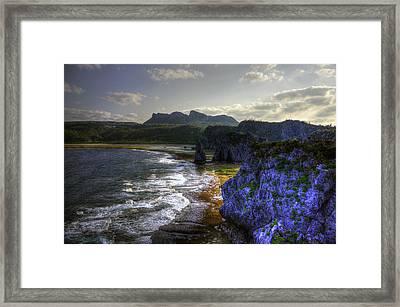 Cape Hedo Hdr Framed Print