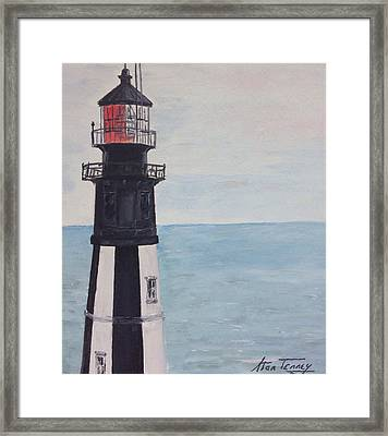 Cape Henry Lighthouse Framed Print by Stan Tenney