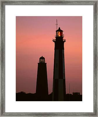 Cape Henry Lighthouses  Framed Print