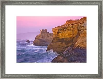Cape Kiwanda At Sunset Framed Print by Patricia Davidson