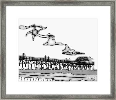 Cape Light Pier Framed Print
