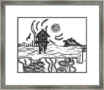 Cape Light Stilt House Framed Print