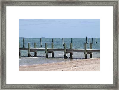 Cape Lookout Boat Docks Framed Print