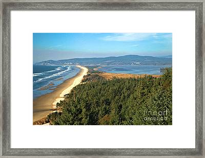 Cape Lookout Coastal View Framed Print
