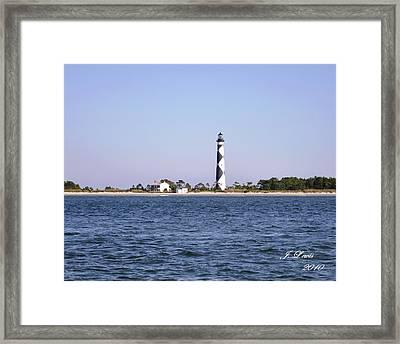 Cape Lookout Light Framed Print