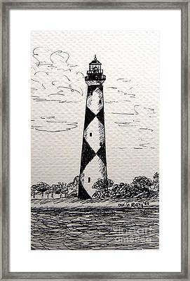 Cape Lookout Lighthouse Nc Framed Print by Julie Brugh Riffey