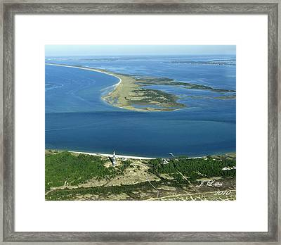 Cape Lookout Looking Down Shakleford Banks Framed Print