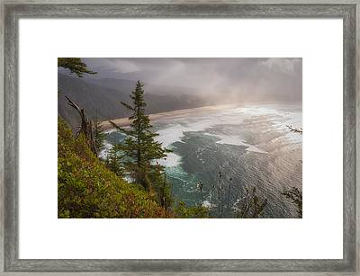 Cape Lookout Vista Framed Print by Mary Angelini