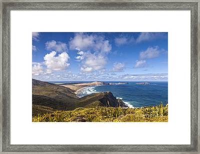 Cape Maria Van Diemen Northland New Zealand Framed Print by Colin and Linda McKie