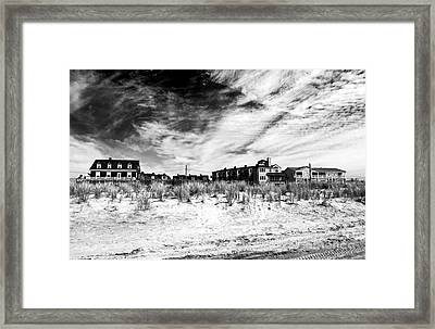 Cape May Beach Houses Framed Print by John Rizzuto