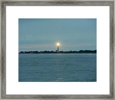 Cape May Beacon Framed Print by Ed Sweeney