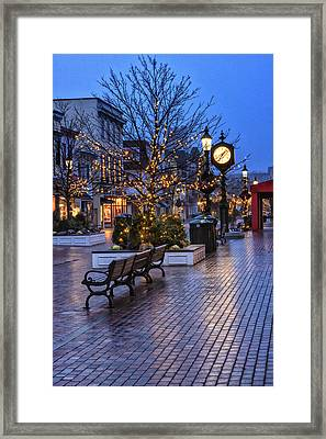 Cape May Christmas Framed Print by Tom Singleton