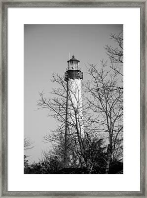 Cape May Light B/w Framed Print