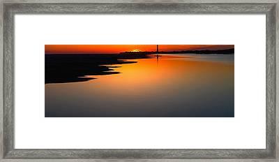 Cape May Lighthouse Nj Framed Print by Kenny  Noddin