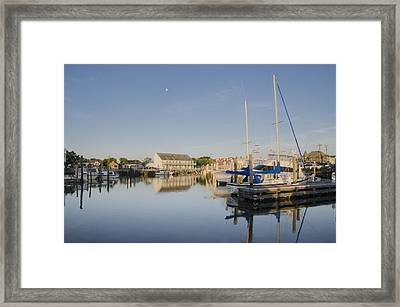 Cape May Marina - New Jersey Framed Print by Bill Cannon