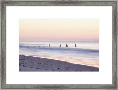 Cape May Ocean Dawn Framed Print by Tom Singleton