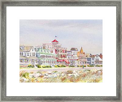 Cape May Promenade Cape May New Jersey Framed Print by Pamela Parsons