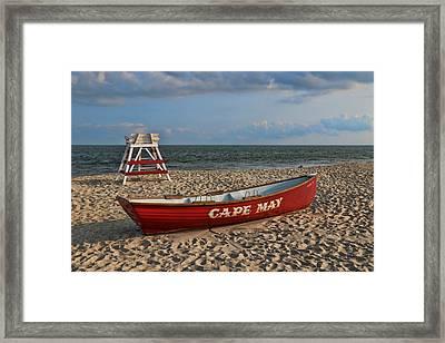 Cape May N J Rescue Boat Framed Print