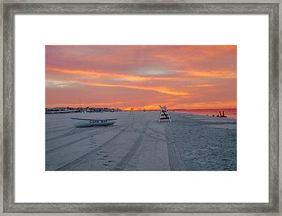 Cape May Seascape Framed Print