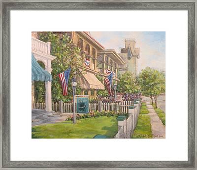 Cape May Street Scene Framed Print by Michele Tokach